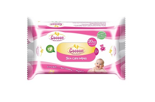 Cocoon Baby Skin Care Wipes 20 Pic Per Pack of 5