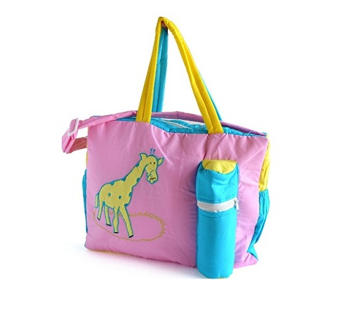 Duck Giraffe Baby Mother Diaper Bag Pink Blue and Yellow