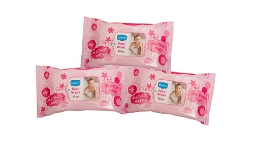 Ginni Baby Wipes 3 Pack 60 wipes Per Packet