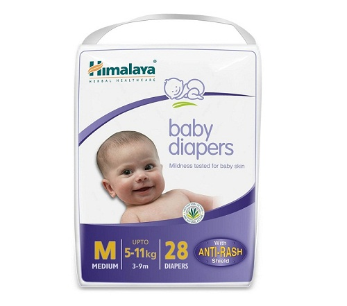 Himalaya Baby Medium Size Diapers 28 count