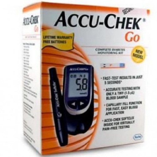 Accu Chek Go Glucose Monitor only (No Free Strip) Diabetes Testing Kit