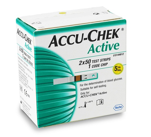 ACCU CHEK ACTIVE 100 STRIPS