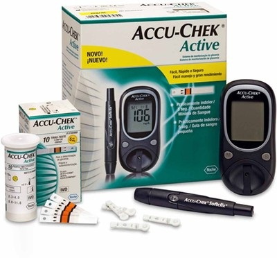ACCU CHEK ACTIVE GLUCOSE MONITOR WITH 10 STRIPS