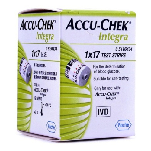 ACCU-CHEK INTEGRA TEST STRIPS 17 S