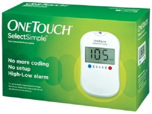 Johnson and Johnson  One Touch Select Glucose Monitor Free 10 Strip