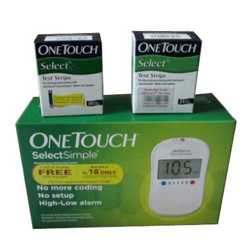 Johnson and Johnson One Touch Select Glucose Monitor with 35 Strips Glucometer
