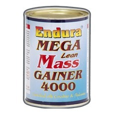 Endura Mega Lean Mass Gainer 4000 Unflavored 1.1 lb